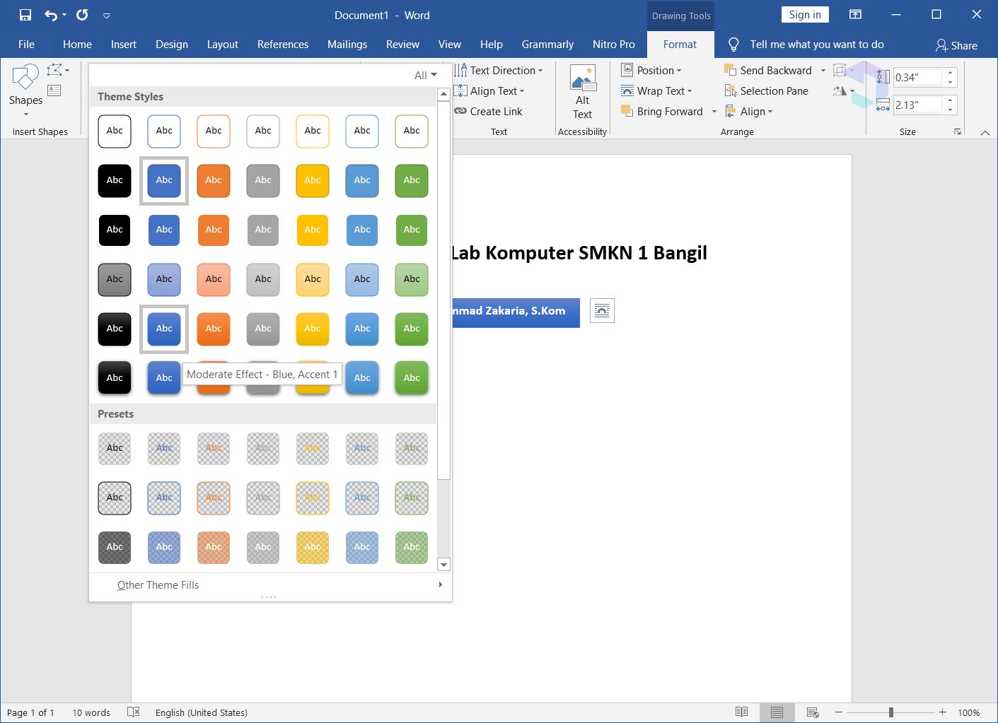 cara membuat struktur organisasi di microsoft word 2013