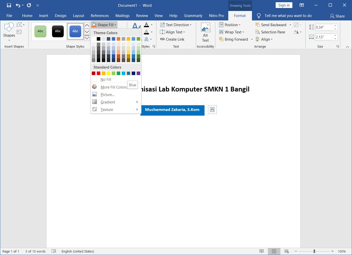 Membuat Struktur Organisasi di Word 6