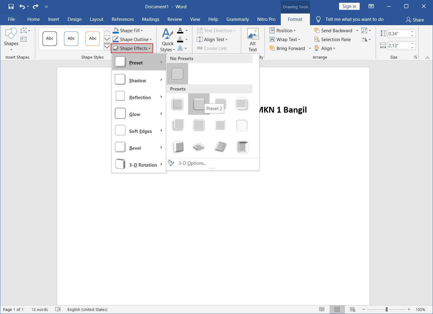 Membuat Struktur Organisasi di Word 8