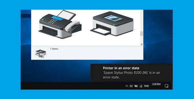 Cara Mengatasi Printer in an Error State di Windows