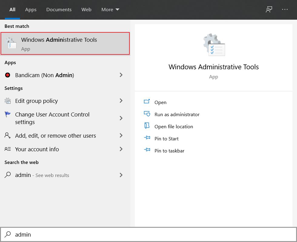 cara mengatasi This app can't open melalui Windows Administrator Tools