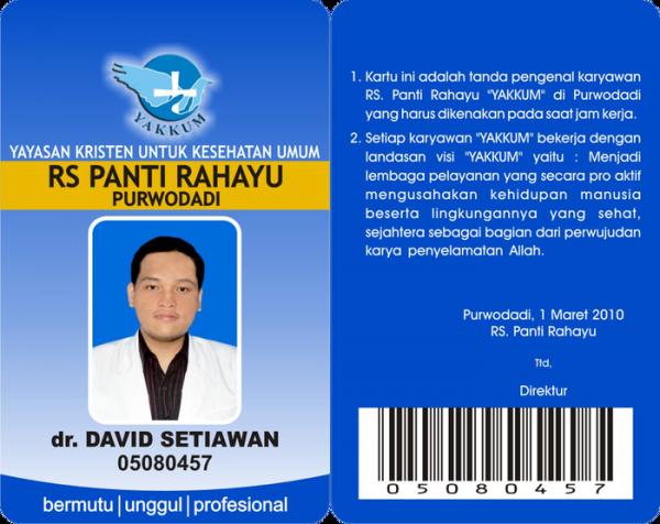 Contoh ID Card untuk Dokter