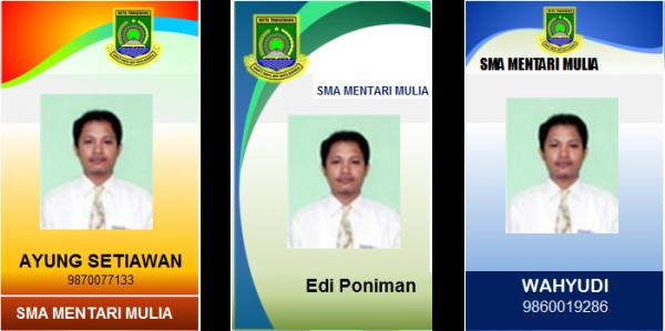Contoh ID Card untuk OSIS