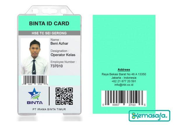Contoh ID Card untuk Operator Pabrik