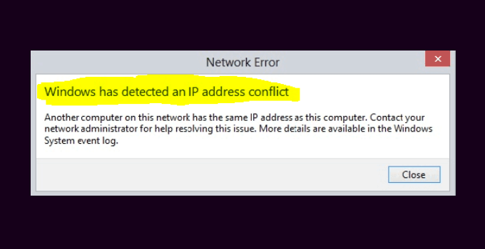 Cara Mengatasi Windows Has Detected an IP Address Conflict