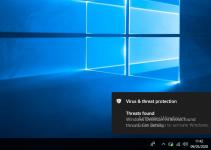 Windows Defender Antivirus Found Threats