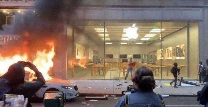 Apple Store Dijarah Para Demonstran
