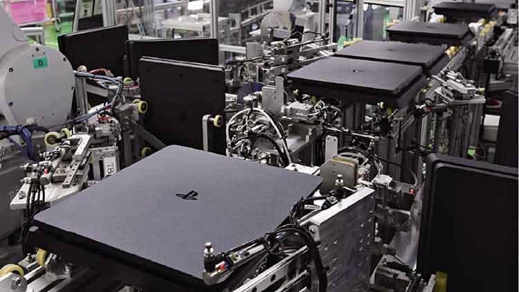 Pabrik Playstation 4 Milik Sony Yang Didominasi Penggunaan Robot