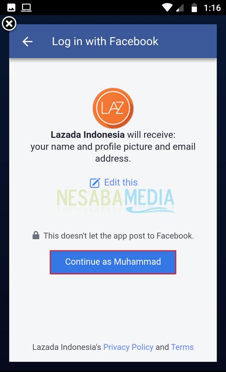 Membuat Akun di Lazada 5
