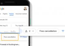 gratis pembatalan hotel di pencarian Google