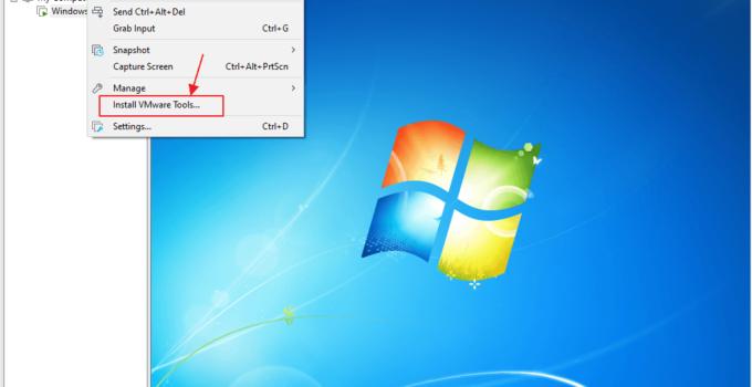 cara install Windows 7 di VMware