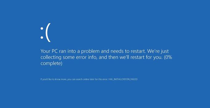 Blue Screen of Death Windows 10 - BSOD Lenovo