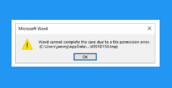 Cara Mengatasi Word Cannot Complete The Save Due To A File Permission Error