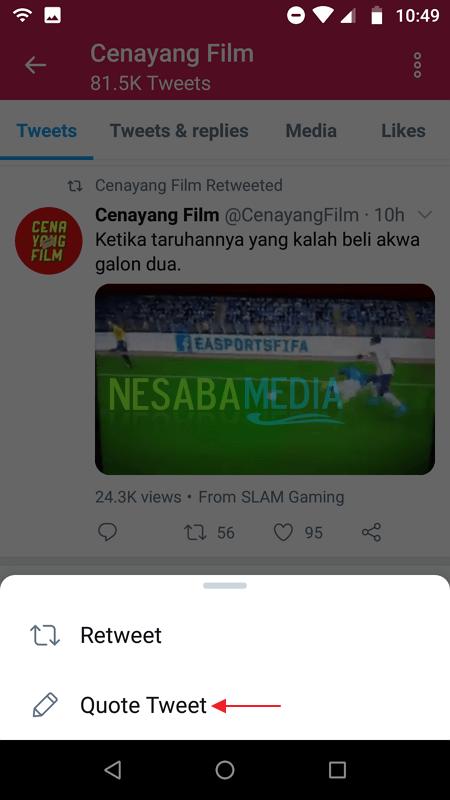 Repost Video di Twitter 2