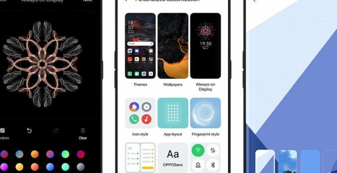 Oppo ColorOS 11 Display Design