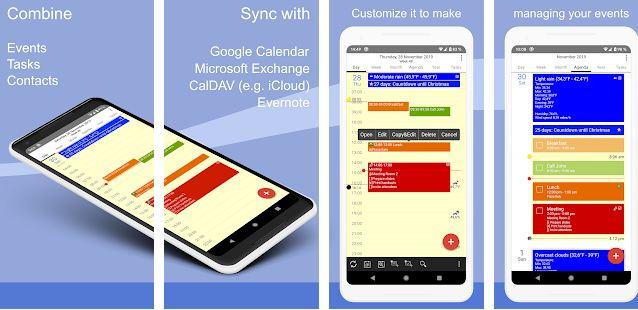 CalenGoo adalah aplikasi kalender android terbaik