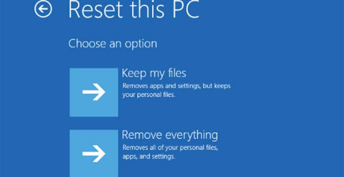 Fitur Reset This PC di Windows 10