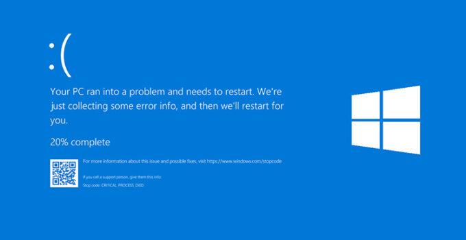 Windows 10 versi 2024 BSOD