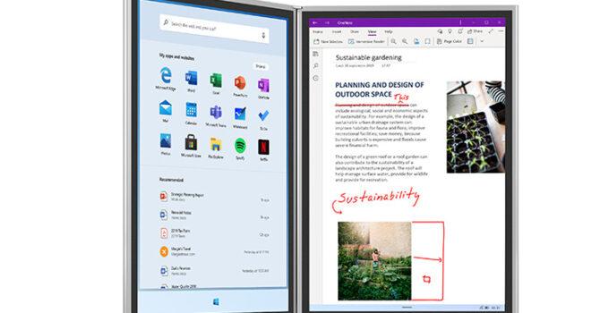 Windows 10X di SurfaceNeo