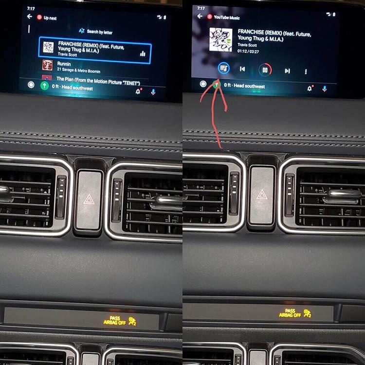 Youtube Music di Android Auto