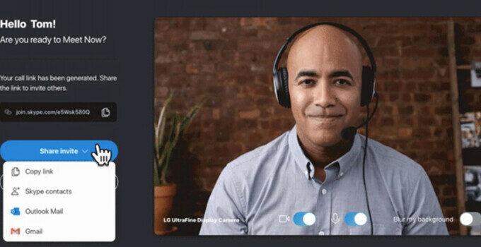 Fitur Baru Skype Meet Now Windows 10