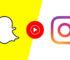 Google Youtube Music Instagram dan Snapchat